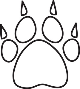 tiger paw coloring page tiger paw clipart black and white clipart panda free