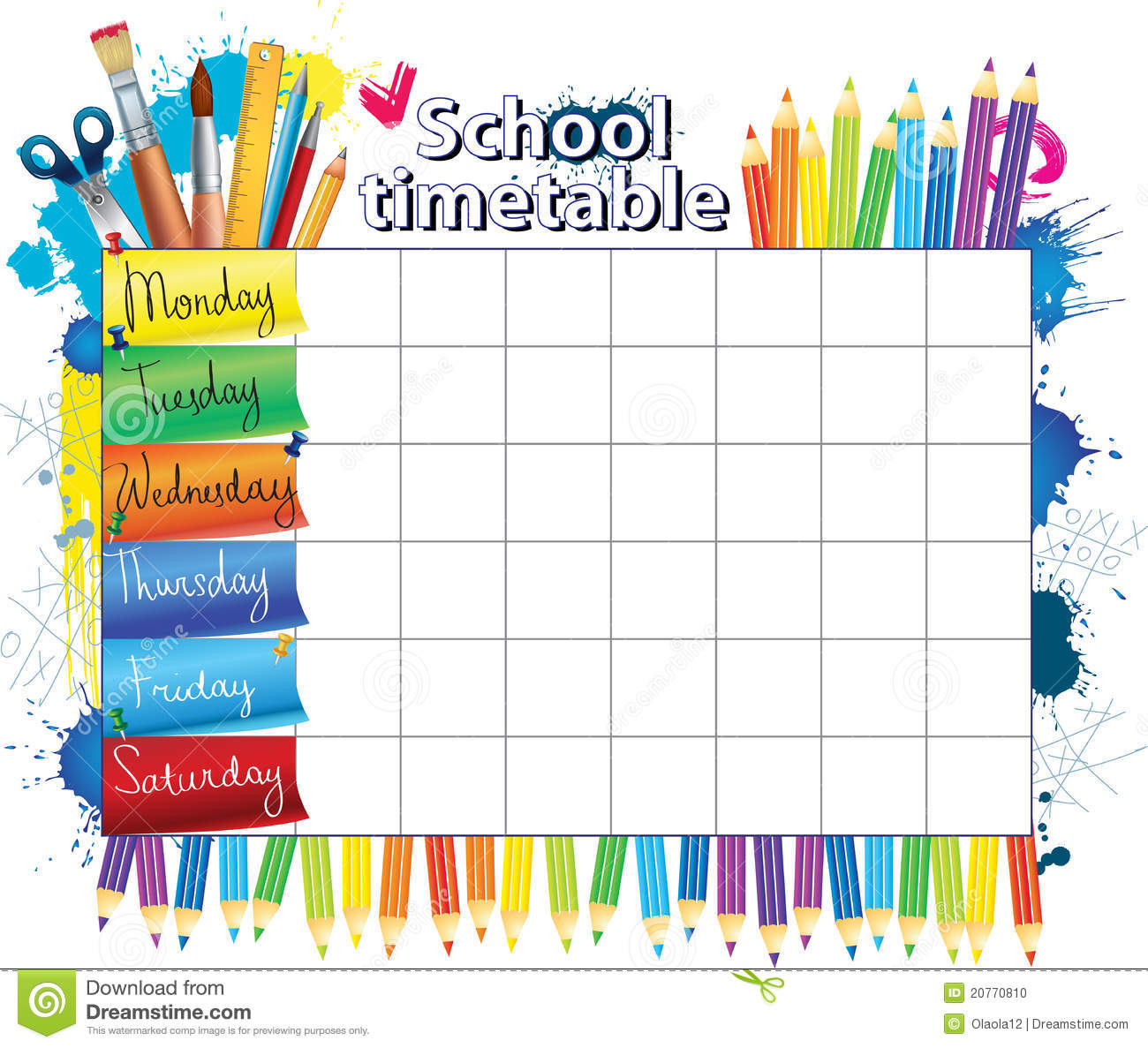 Quotes On School Time Table: Clipart Panda - Free Clipart Images