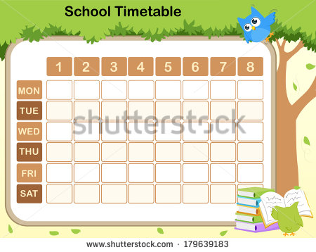 Timetable Clipart – School Time Table Designs
