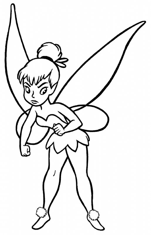 Tinkerbell clip art black and white clipart panda free for Black and white tinkerbell