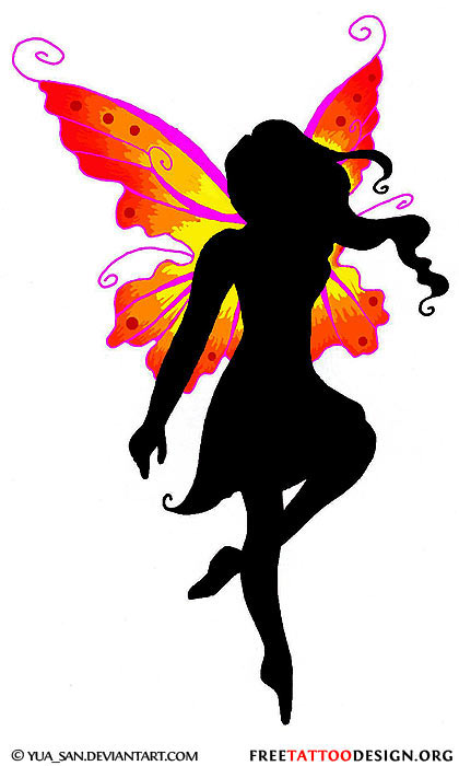 Fairy Silhouette Tattoo Designs