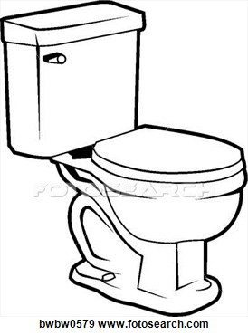 Toilet Clip Art Black And White Clipart Panda Free Clipart Images