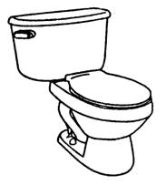 Toilet Clip Art Black And White