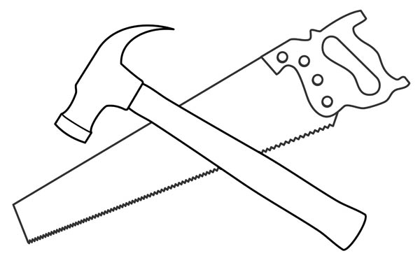 Line Drawing Tool : Tool clip art black and white clipart panda free
