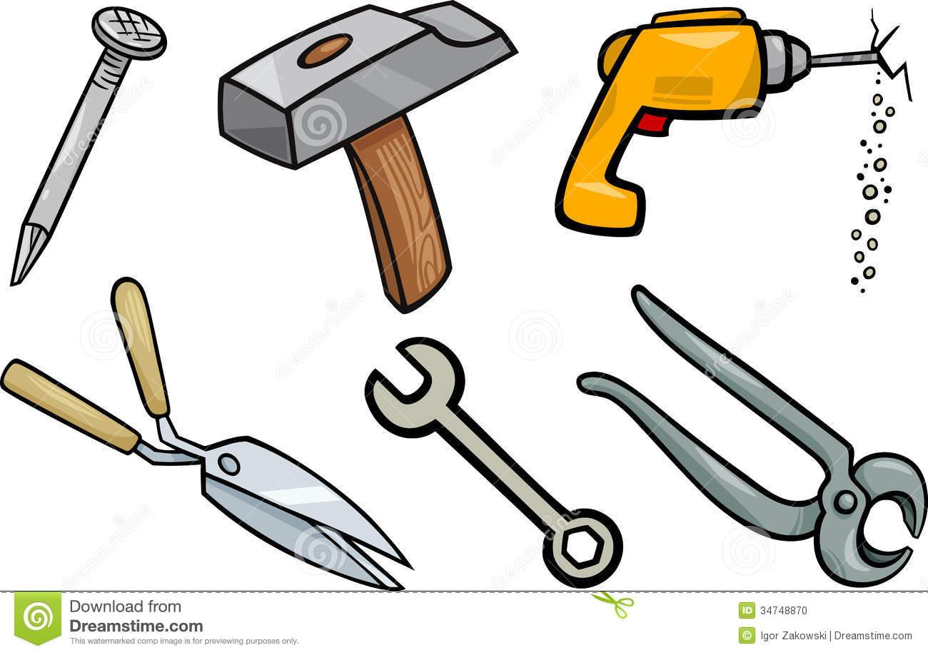 tools-clip-art-tools-objects-cartoon-illustration-set-clip-art ...