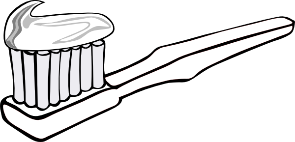 Toothbrush Clipart Black And White on Toothbrush Clip Art