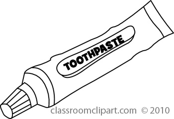 Toothpaste coloring page