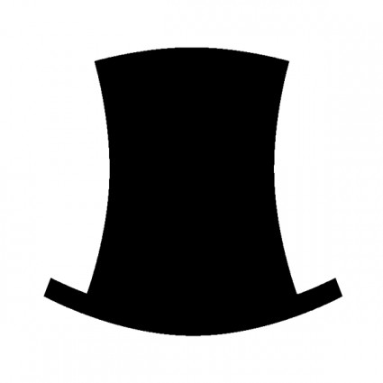 Mustache Top Hat Clip Art