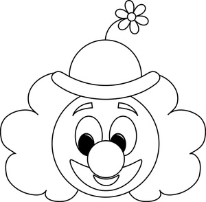 Clown Clipart Black And White | Clipart Panda - Free Clipart Images