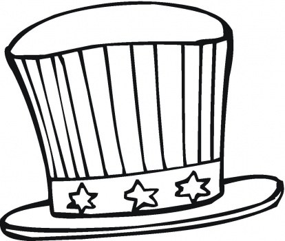 Top Hat Coloring Page | Clipart Panda - Free Clipart Images