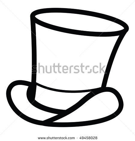 tophat coloring pages - photo#27