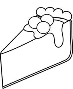 Cheese Cake Coloring Page