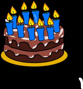 10th Birthday Cake Clip Art