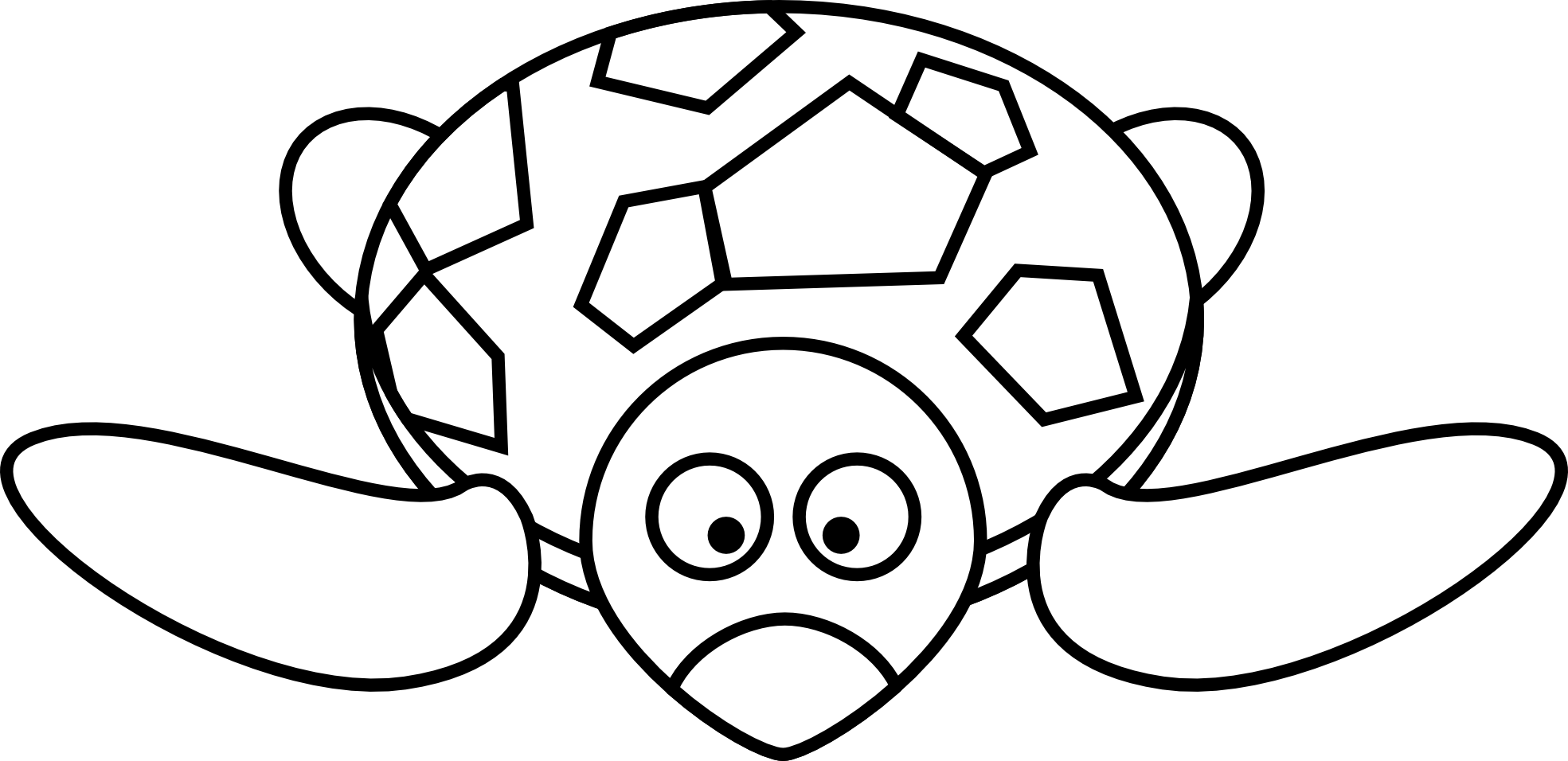 Line Art Comic : Tortoise clipart black and white panda free