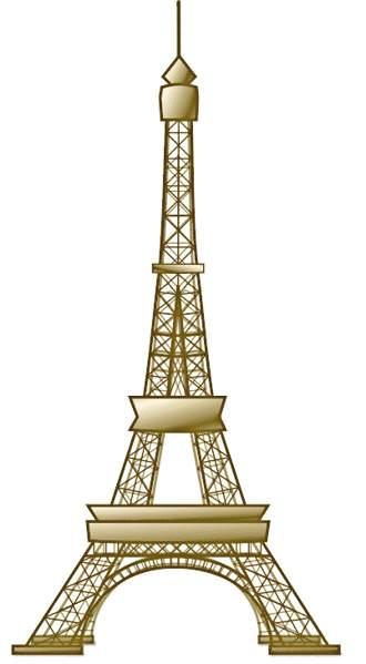 Brown Eiffel Tower Clip Art
