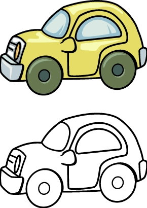 Toy car clipart clipart panda free clipart images for Toy car coloring pages