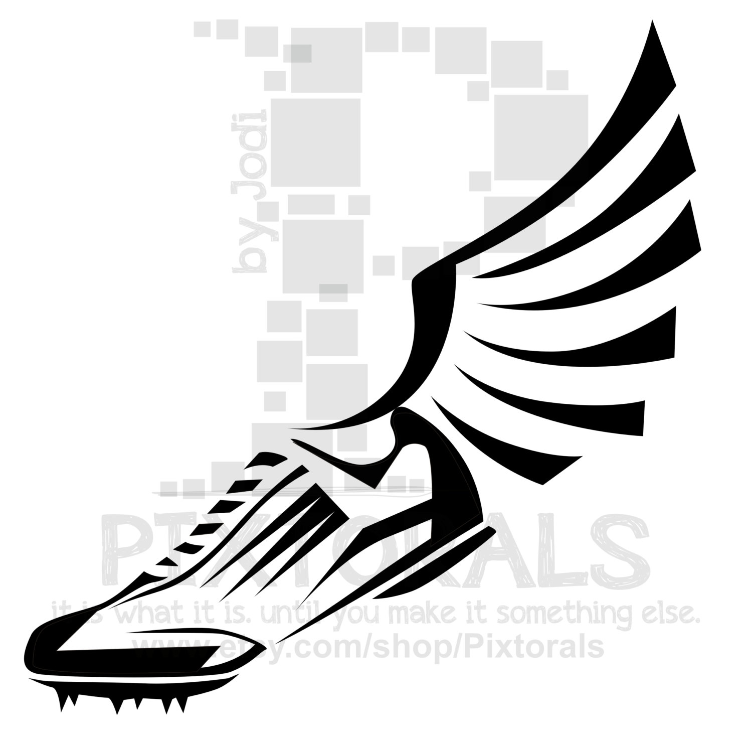track clip art track shoe with wings clipart panda