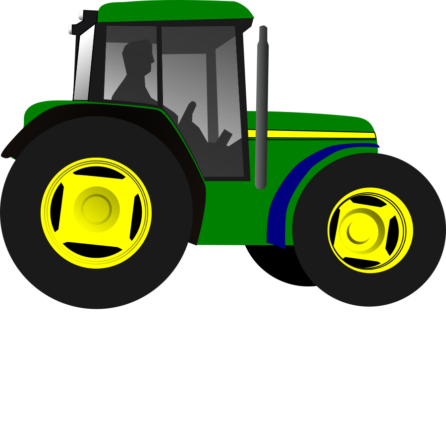 Little Green Tractor Clipart