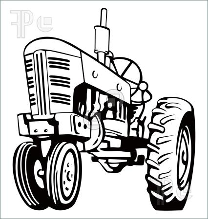 Tractor Clipart Black And White on toy lawn tractors