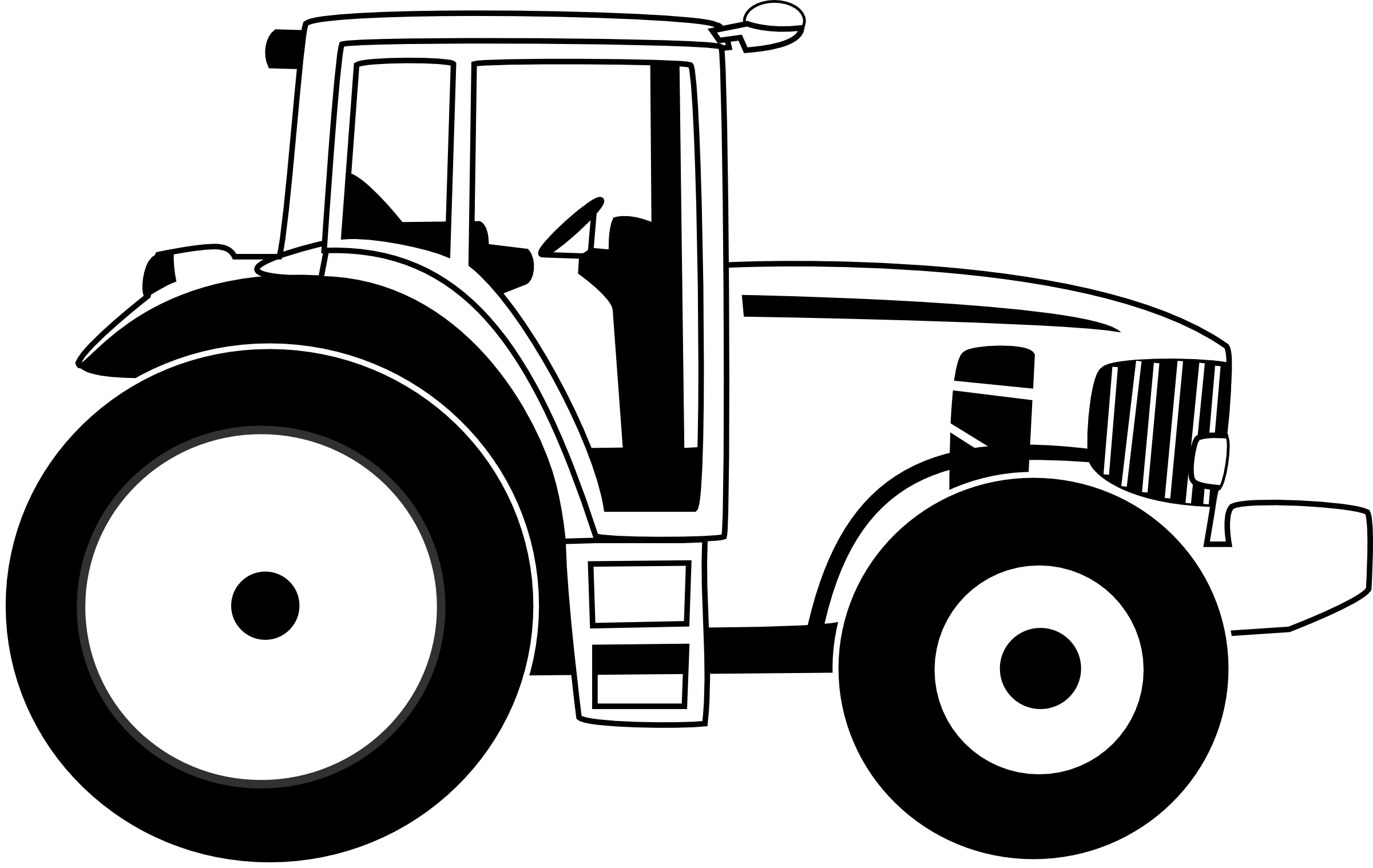 Black White An D Tractor Pulling Wagon : Tractor clipart black and white panda free