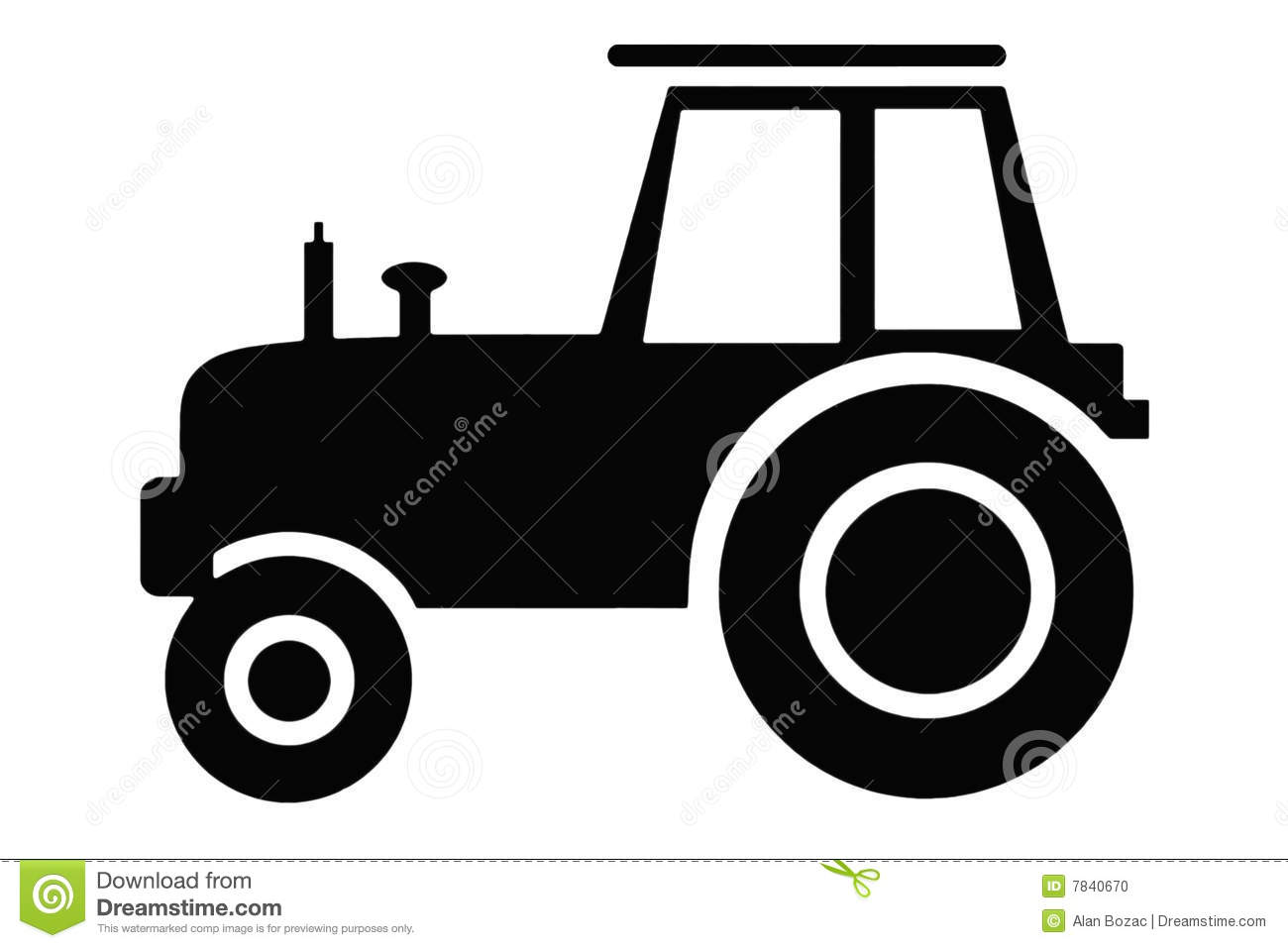 Tractor Clipart Black And White | www.imgkid.com - The ...
