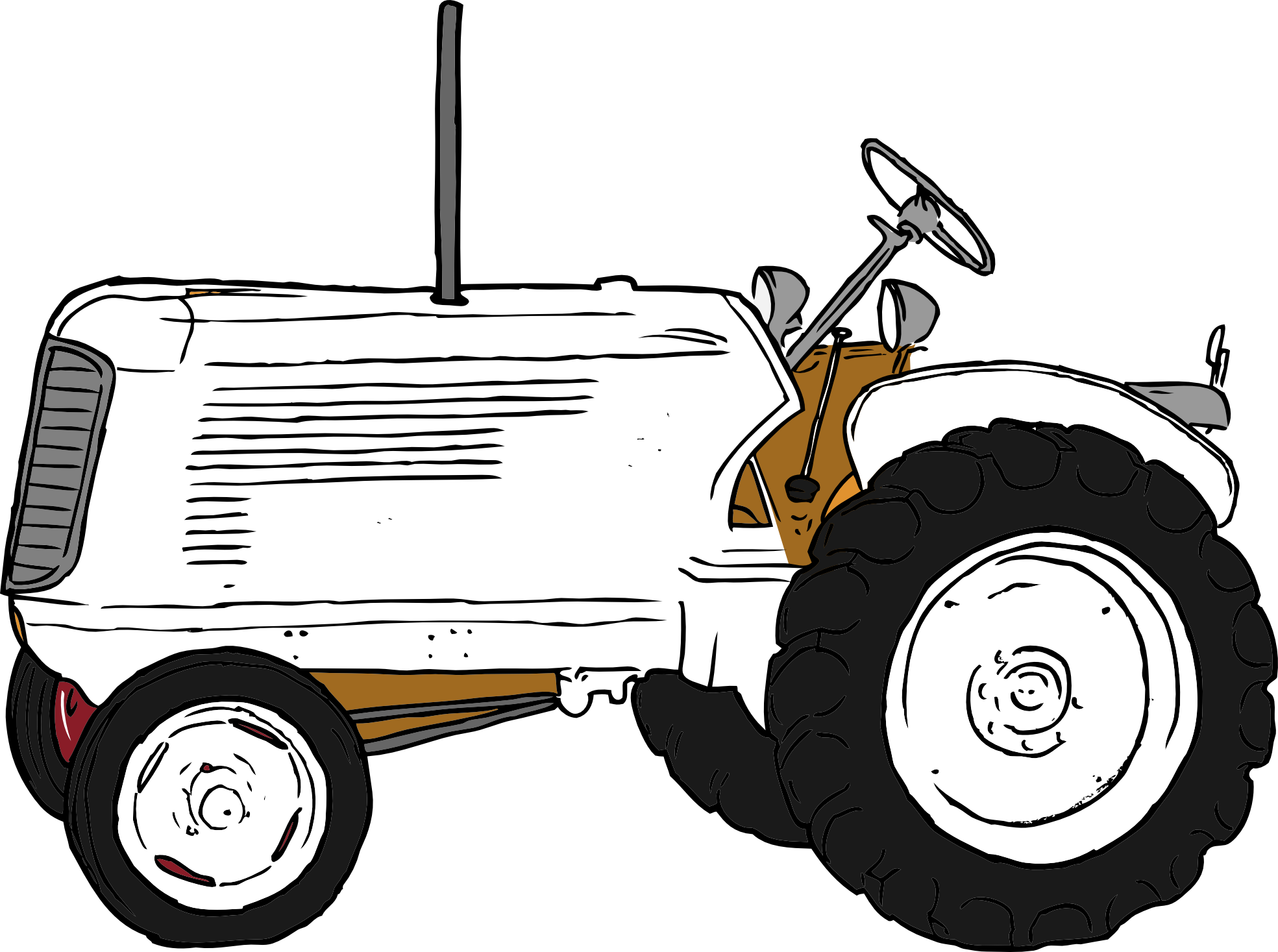 Tractor Clipart Black And White | Clipart Panda - Free ...