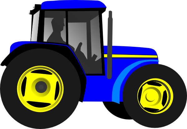 Yellow Tractor Clip Art : Blue tractor clipart panda free images