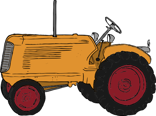 Drawing Man On Tractor : Tractor plowing clipart panda free images