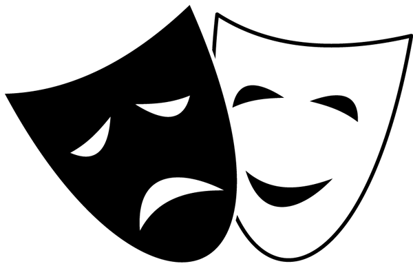Comedy Clipart Comedy tragedy mask clipart