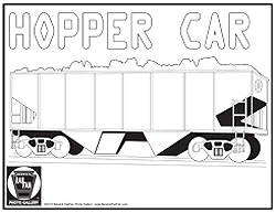 Train Car Coloring Page