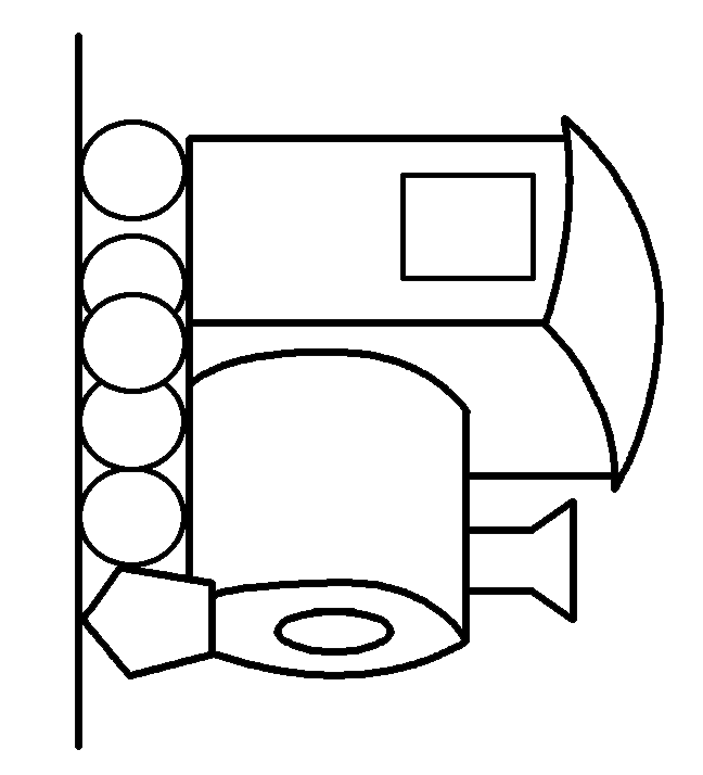 Train Car Coloring Page Clipart