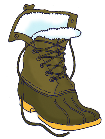 winter boots clipart free - photo #4