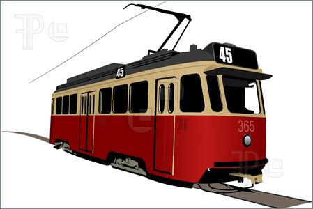 Tram System Clipart