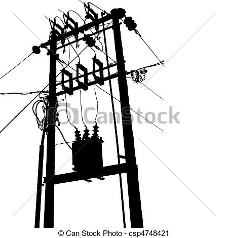 Transformer Clipart on telephone lines