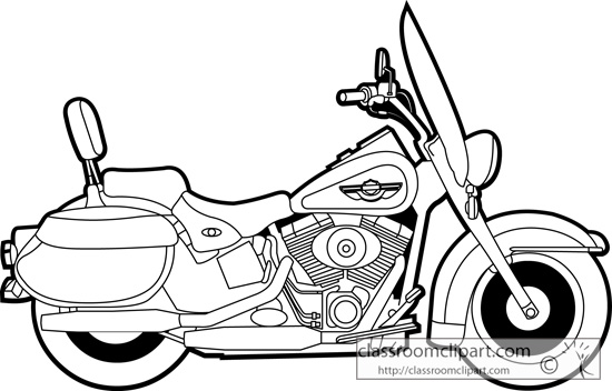 Line Art Motorcycle : Transport clipart panda free images