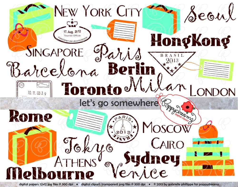 Travel Clip Art Borders | Clipart Panda - Free Clipart Images