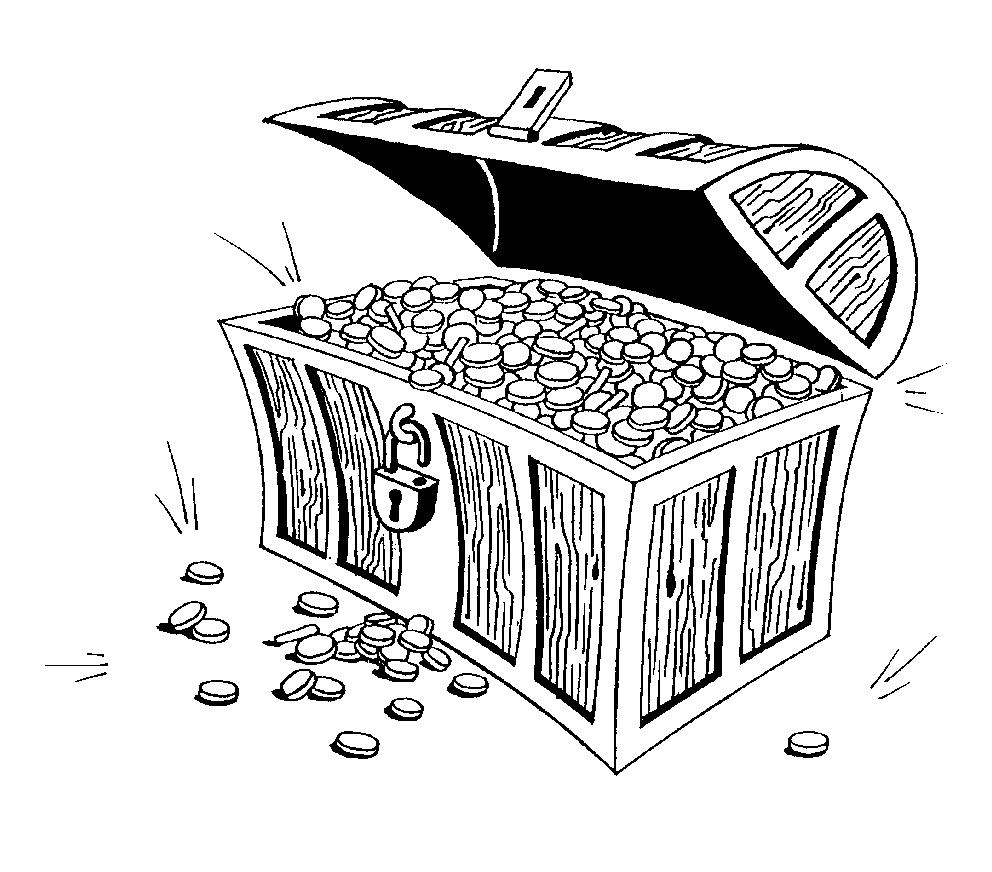 Treasure Box Coloring Page
