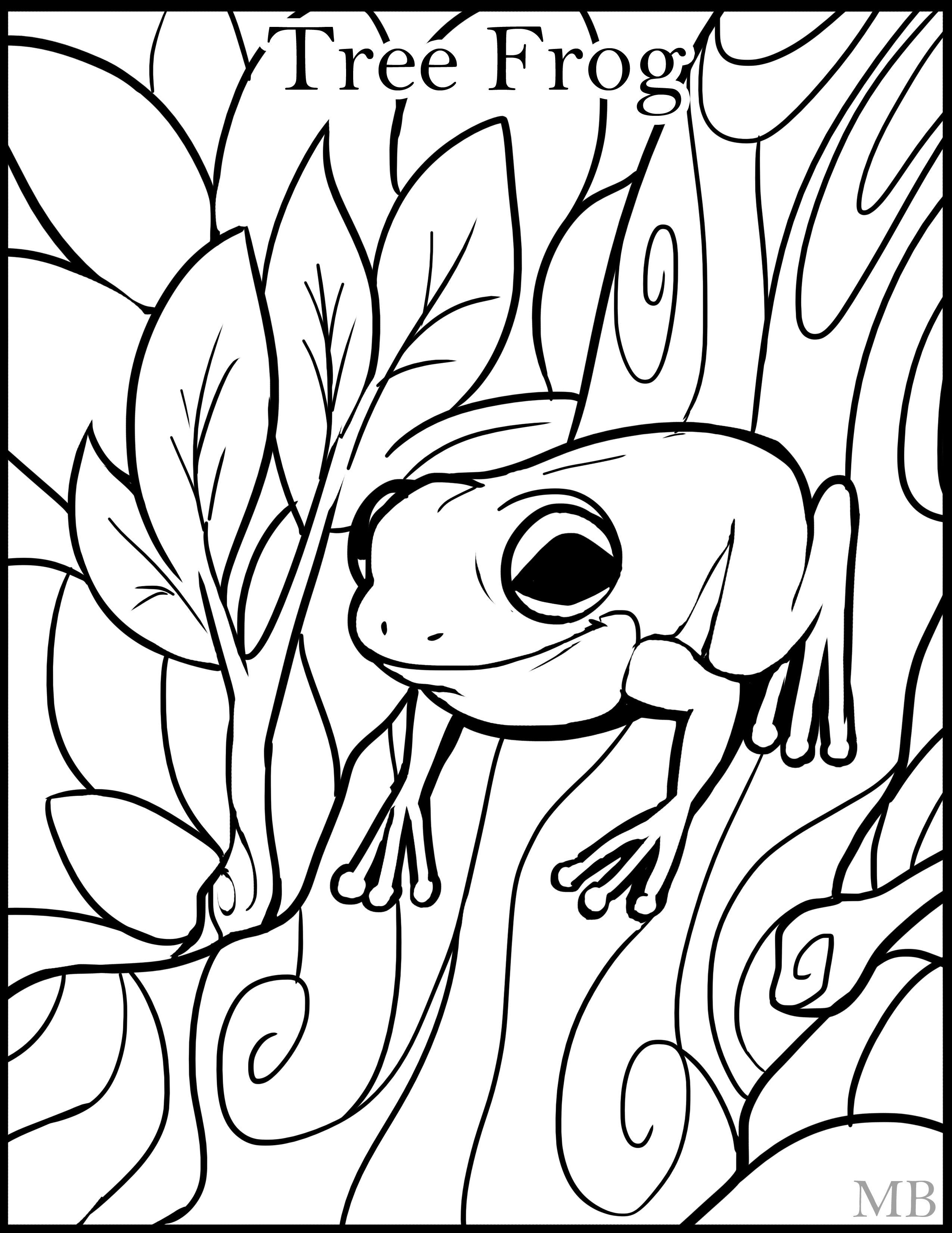 Tree Frog Coloring Pages | Clipart Panda - Free Clipart Images