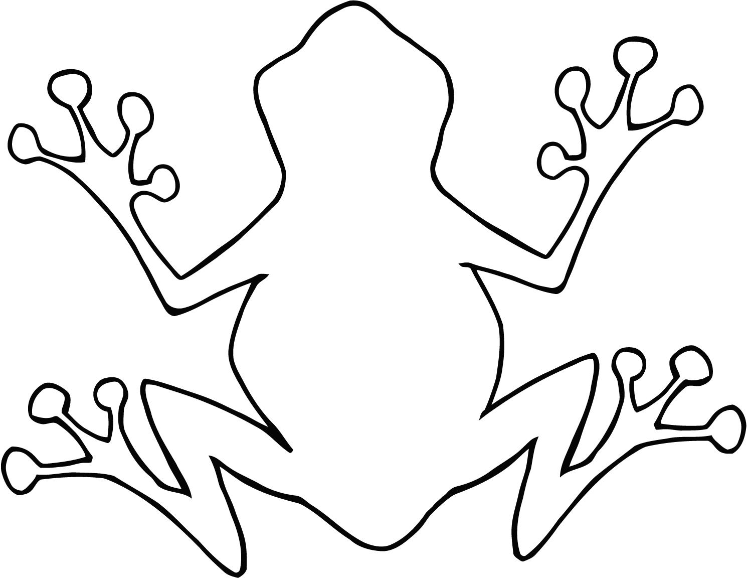 Out Line Drawing Of Animals : Tree frog outline clipart panda free images