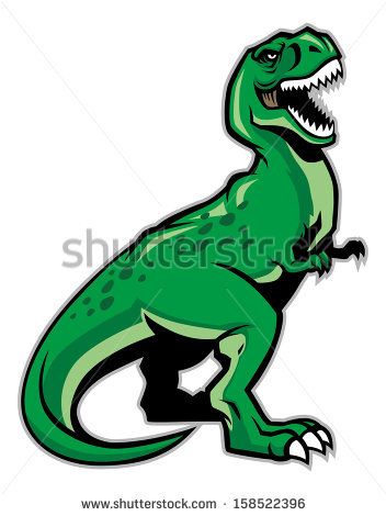 Free Download Trex Clipart Tyrannosaurus Triceratops - T Rex Dinosaur  Clipart, HD Png Download - vhv