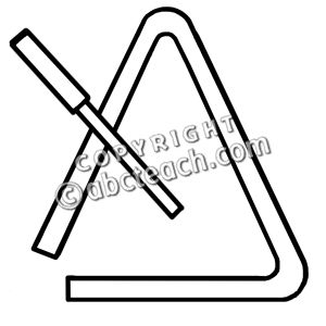 instruments coloring pages - Triangle Instrument Coloring Page