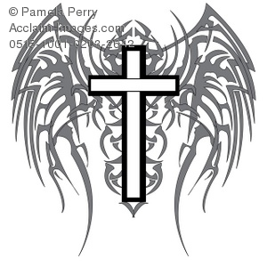 tribal-cross-clipart-0515-1001-0203-2642 gothic cross with wings jpgTribal Cross With Tribal Wings