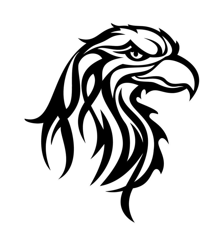 tribal eagle head clipart