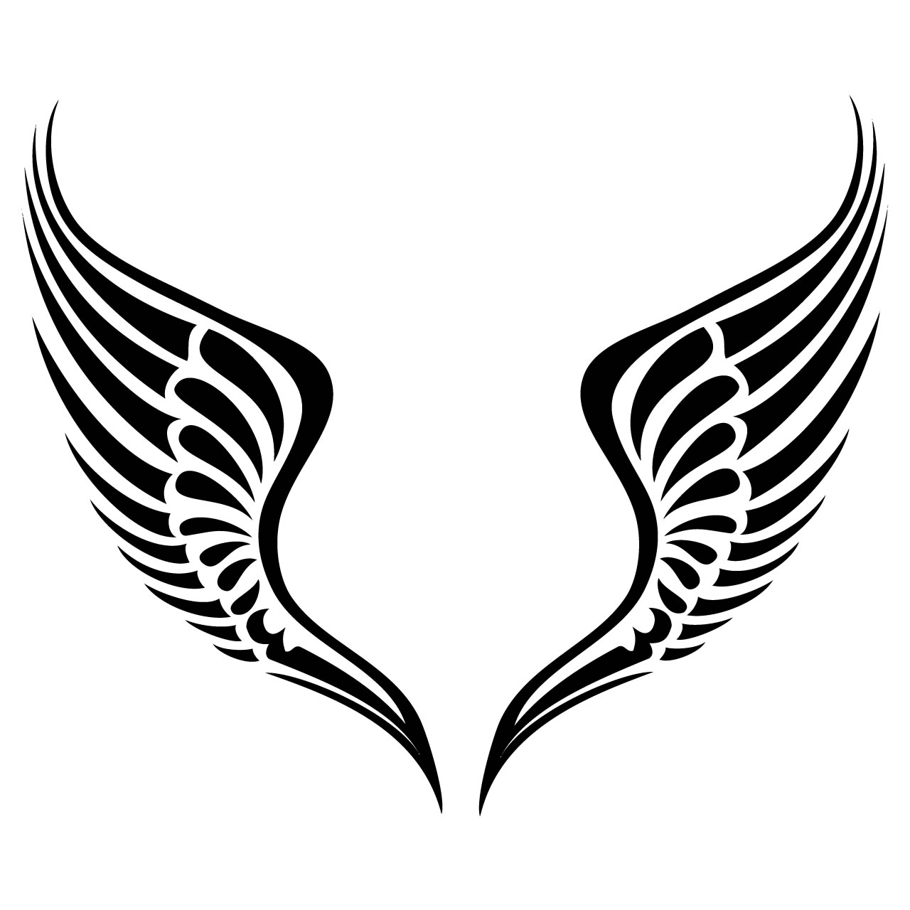 tribal 20wings 20clipart  Eagle Wings Clipart