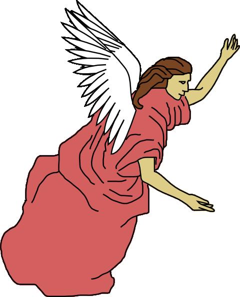 Angel flying. Clip art for clipart