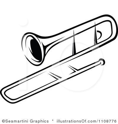 Trombone Clip Art Black and White