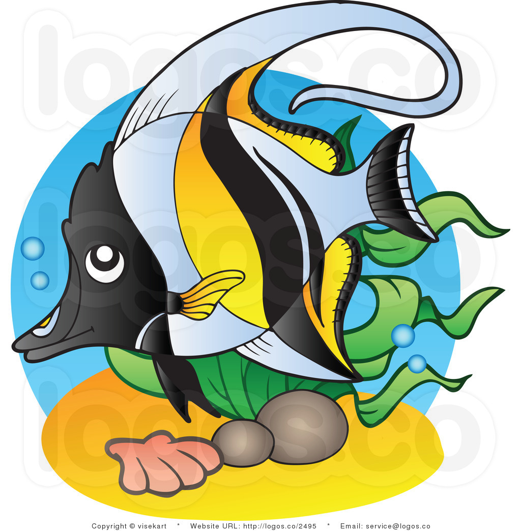 tropical%20fish%20black%20and%20white%20clipart