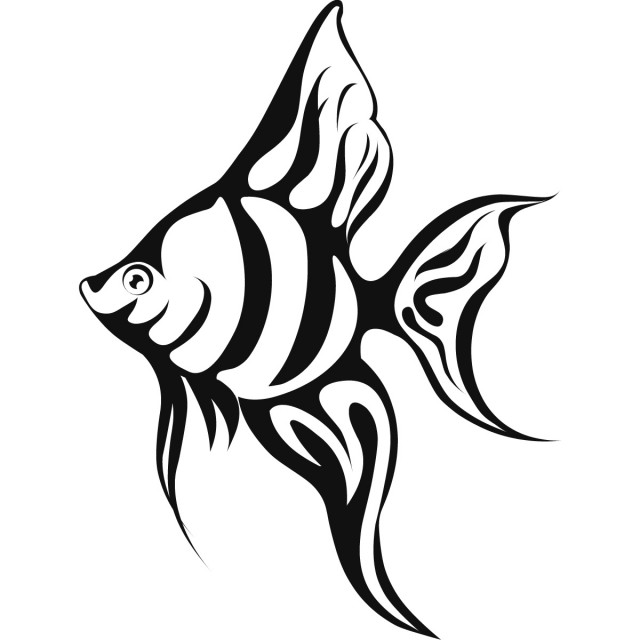 Tropical Fish Coloring Pages #1