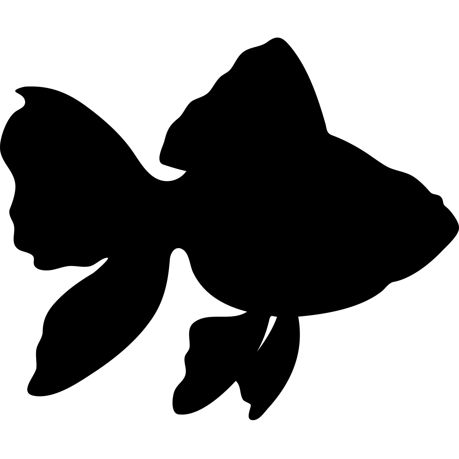 fish silhouette clip art Quotes