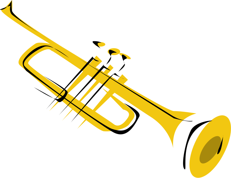 Trumpet Clip Art Black And White | Clipart Panda - Free Clipart Images